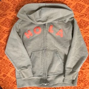 Cotton 'HOLA' hooded Sweatshirt boys 4/5T